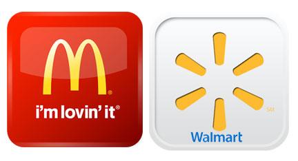 mcdonalds+walmart-apps