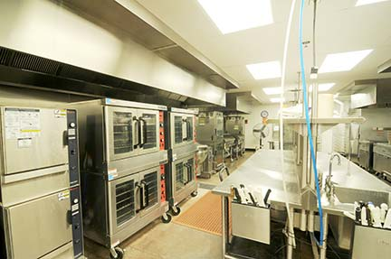 The large commercial kitchen at the Oklahoma Assembly of God Camp in Sparks, OK, is equipped to serve 1,000 people three meals a day. (Photo provided by Churches by Daniels)