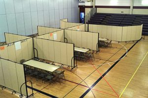 Room dividers at New Hope Baptist Church in Fayetteville, GA, make the worship space truly multifunctional.