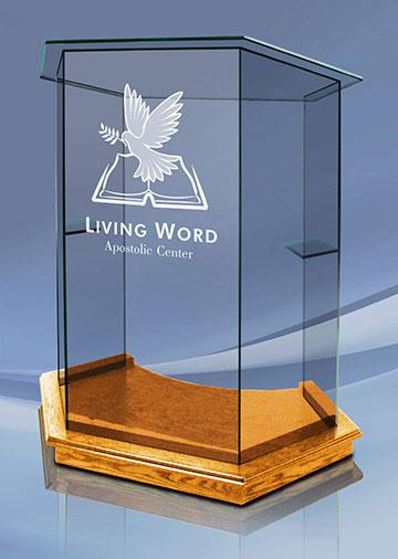 Foundation-Pulpit---Golden-Oak---Clear---Etch