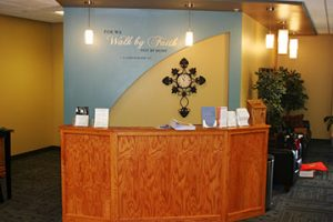 In 2011, Sequoyah Hills Baptist Church in Tulsa, OK —a 55-year-old facility — received a complete renovation. This included transforming an outdated library and conference room to an inviting lobby and reception area. (Photos courtesy of Churches by Daniels Construction)