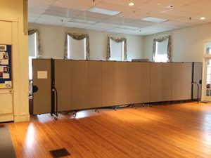 "For Rockport First Congregational Church, Lake Zurich, IL-based Screenflex designed four family  bedrooms using 6'8""-high dividers. These spaces provide transitional housing for members in need."