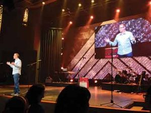 Pastor Gene Appel at Eastside Christian Church in Anaheim, CA — live preaching with IMAG