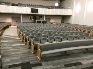 Sauder Worship Seating Installation At Apex Baptist Church (Apex, NC) U2014 A  Combination