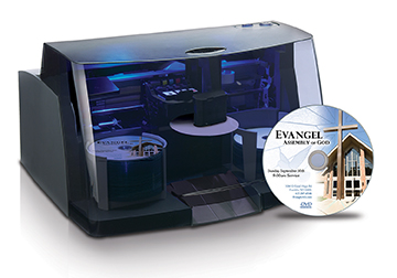 The BRAVO 4102 disc publisher has a 100-disc capacity and features two high-speed recordable DVD / CD drives and color inkjet printing at up to 4800 dpi.