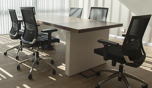 empty board room table