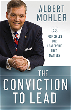 Conviction to Lead By Albert Mohler Hailed as the reigning evangelical mind by Time, in Conviction to Lead, Albert Mohler reveals his leadership secrets and shows how to become a leader people want to follow. [bakerpublishinggroup.com]