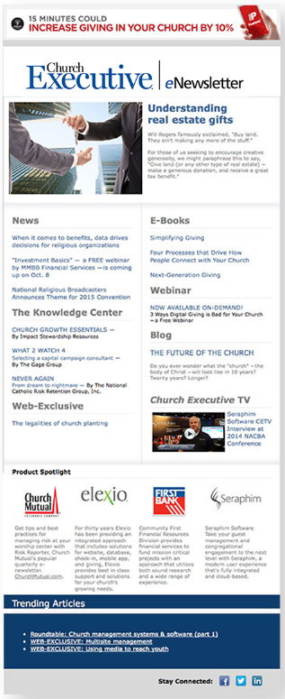 Church Executive eNewsletter