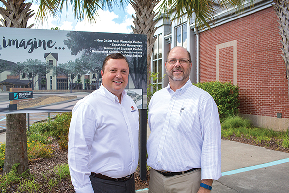 Glenn Wood with the church's account manager, Jeremy Moore
