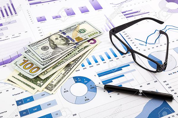 30661222-dollar-currency-on-financial-charts-expense-cash-flow-summarizi...