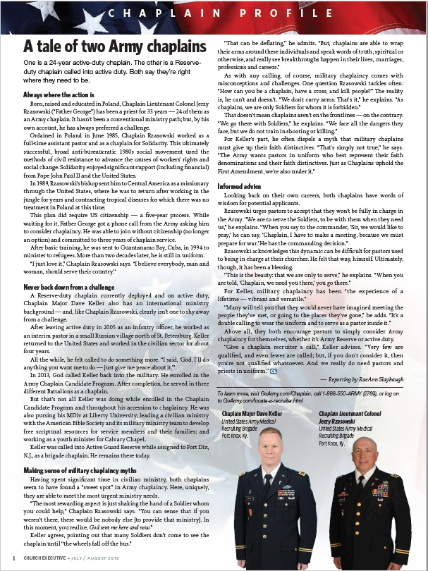 CHAPLAIN PROFILE: A tale of two Army chaplains