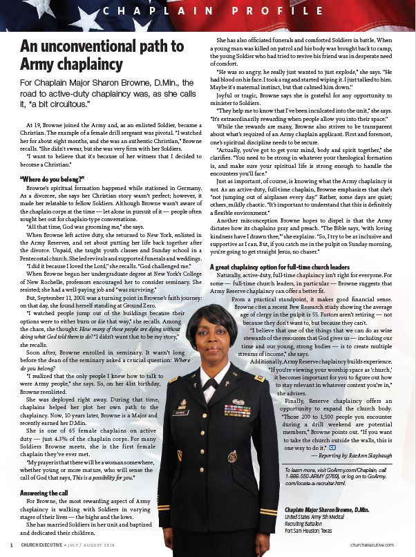 CHAPLAIN PROFILE: An unconventional path to Army chaplaincy