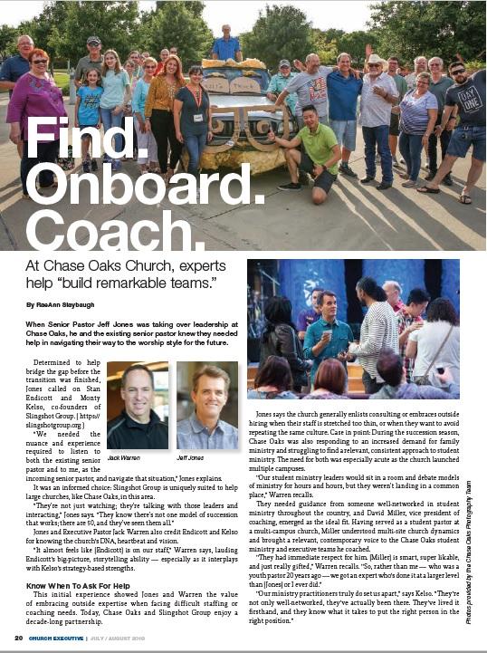 Find. Onboard. Coach.